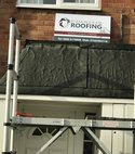 Square thumb porch roof