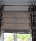 Square thumb curtain   roman blind