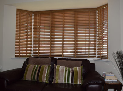 Primary thumb wood venetians in bay window