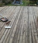Square thumb wood deck