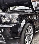 Square thumb range rover black