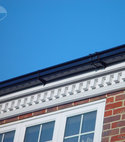 Square thumb white decorative fascia black ogee guttering