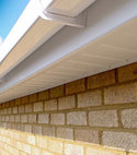 Square thumb white upvc fascia soffit and square guttering.