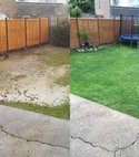 Square thumb before and after seeding