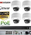 Square thumb hikvision cctv full hd ip camera system