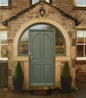 Square thumb hardwood entrance door cambridgeshire