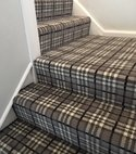Square thumb tartan grey stairs