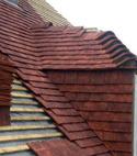 Square thumb tile roof