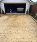Square thumb driveway before 7
