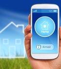 Square thumb intruder alarm smartphone app