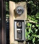 Square thumb domestic gate intercom and cctv