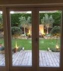 Square thumb garden lights 6
