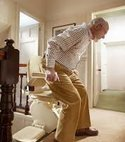 Square thumb stairlift 1