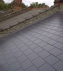 Square thumb new man made slates    stepped flashing
