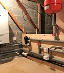Square thumb new unvented cylinder and boiler in loft ipswich suffolk