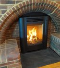 Square thumb contura i4 classic brick fireplace