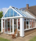 Square thumb white gable end loggia