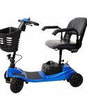 Square thumb komfi rider liberty vogue suspension boot scooter in blue