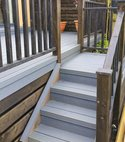 Square thumb composite board raised decking