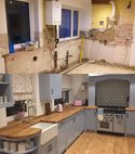 Square thumb before and after kitchen