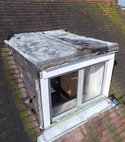 Square thumb dormer is in a poor condition