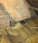 Square thumb inadequate support to chimney breast