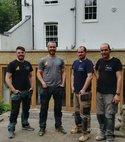 Square thumb flush heating team attending boiler repair in abbeville clapham