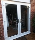 Square thumb window cutdown to french doors