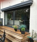 Square thumb aluminium patio doors twin slide