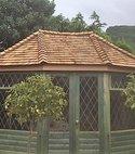 Square thumb cedar shingles roof