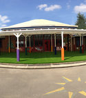 Square thumb lazylawn rolls out turf for huntingdon school