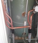 Square thumb new stuart turner  shower pump with new copper pipework   lever isolation valves