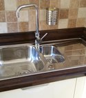 Square thumb replacement stainless steel sink with mixer tap   filter tap