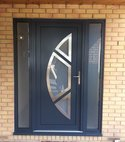 Square thumb designer aluminium front door