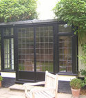 Square thumb black double door   leaded units