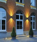 Square thumb led cylindrical ip55 exterior wall light up   down insitu