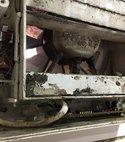Square thumb damaged vent