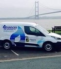 Square thumb van at humber bridge