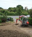 Square thumb chris drive with church   excavator