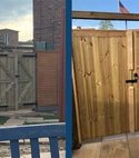 Square thumb fencing   gates