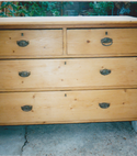 Square thumb old antique chest of drawers in southampton