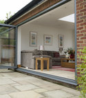 Square thumb hwc grey aluminium bi folding doors