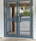Square thumb bluff doors