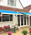 Square thumb awning