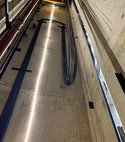 Square thumb lift shaft lighting