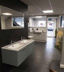 Square thumb bathroom showroom devon 2019 5