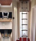 Square thumb 2.9m telescopic ladder   new plywood loft hatch