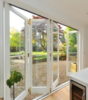 Square thumb open bifold door