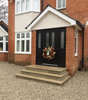 Square thumb merdon avenue completed front door and steps