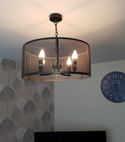 Square thumb lounge light fitting replaced